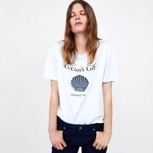 Zara T-Shirt with Jewel Appliqué